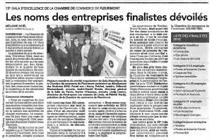 Gala d'excellence de la Chambre de commerce de Fleurimont